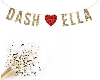 Custom Save the Date Banner, Wedding Banner. Wedding Shower. Bachelorette Party. Hen Party. Glitter Banner