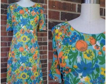 1960's floral Sheath Dress