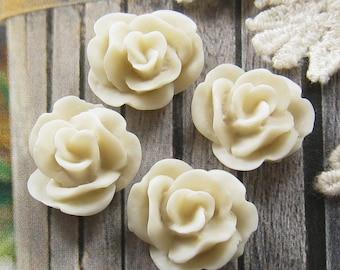 17mm - Lovely Rose cabochon - 4 pcs (CA837-D)