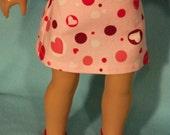18 inch  Doll Valentine Print Skirt