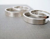 Personalized Couple Rings - His n' Hers Celebration Rings, Wedding Rings, Texture Rings