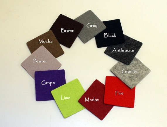 """1/2 Yard of 2MM Thick Wool Felt Any Color- 27.5"""" x 36"""""""