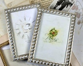 4x6 inch or 4x5 inch Silver Boule Picture Frame/ Silver Wedding/Office Desktop/Family Deluxe Standard Size 4x6 inch Photo Frame
