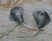Sterling silver stingray post earrings