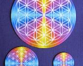 "Flower of Life Altar Cloth, Crystal Grid ""Charger"" Set of 3."
