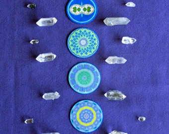 Chakra Symbols Set of 8 Healing and Transformation.