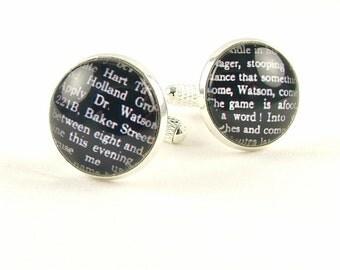 Steampunk Cuff Links - Sherlock Holmes Valentine Gift For Husband - Best Man Gift - Grooms Cufflinks - Anniversary Gift - Gifts For Him
