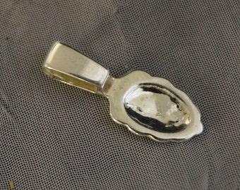 Sterling Silver - Large - AnnRaku Bail - 25.3 x 8 x 6.3mm
