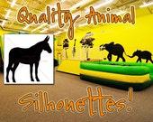DONKEY Silhouette Decal 24, HIGH QUALITY Vinyl Wall Silhouette Decals, Donkey Decal Wall (Many Donkey Sticker Sizes) Mule, Farm Animals