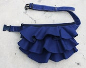 Ruffled Waist Pouch in Royal Blue, Fanny Pack, Travel Pouch, Hip Bag, Zipper Pouch, Bridesmaid Gift, Gift  for Women - RWP -  SALE 20% OFF