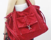 New Year SALE - 20% OFF EZ in Red / Messenger / diapers bag / Crossbody / Handbags / School bag / Purses / tote / women / For Her / Gift