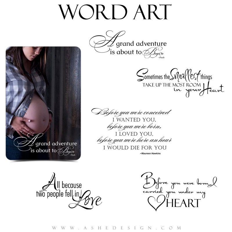 newborn word art quotes photo overlays for by ashedesign