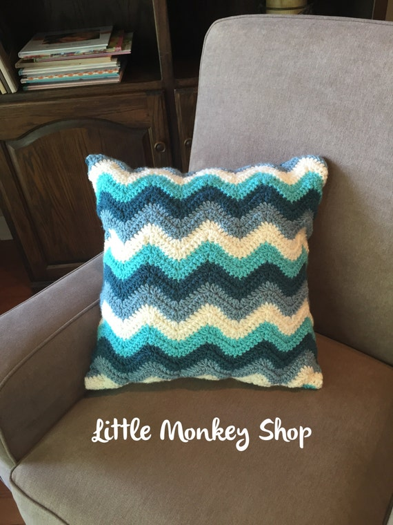 Beginner Crochet Pillow Patterns : Crochet PATTERN Pillow Cover Chevron Pillow Cover Home