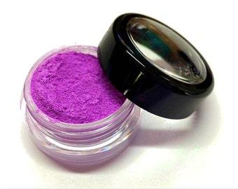 "Bright Purple Shimmer Eye Shadow - Neon Purple - ""Grape Popsicle"" - Mineral Makeup - Eyeshadow"