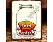 Clamp (Mason Jar Critter Art)