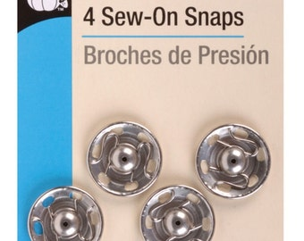 Sew-on snaps  - size 10 - 4 count by Dritz