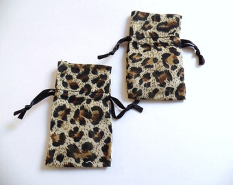 Animal Print Organza Pouches Pack Of 12 1 3/4 Wide X 2 Inches Long