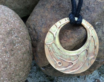 Orb Faith Pendant in Bronze