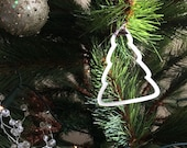 Christmas tree ornaments set of three to order in frosted acrylic
