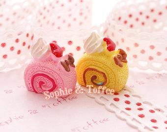 Decoden Cabochon Ribbon Sugar Roll Resin 6pc