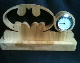 Wooden Batman Desk clock