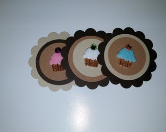 Cupcake Style Two Inch Scalloped Die Cuts