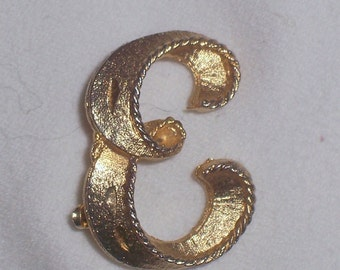 Vintage Initial E Brooch or Pin