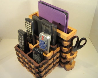 Tablet, LapTop, 6 TV Remote Organizer Handmade