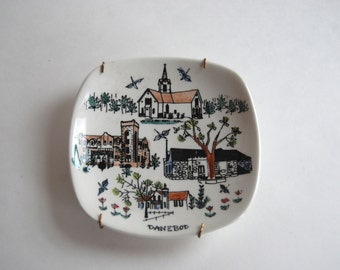 Vintage Decorative Wall Plate, Made in Norway
