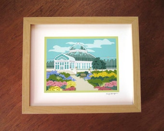 Conservatory Entrance, Como Park, St. Paul, art print