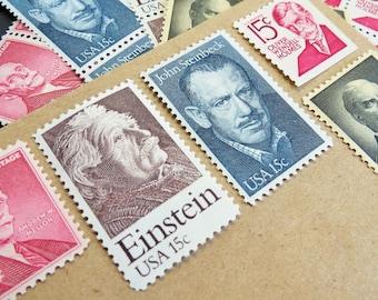 Mustache .. Men .. UNused Vintage Postage Stamps  .. post 5 letters