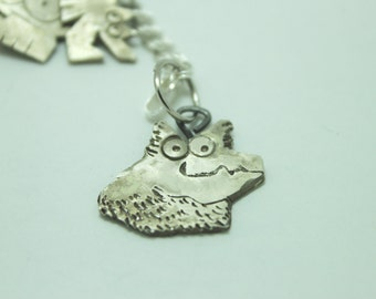 Custom Pet Charm: Your Dog or Cat in Sterling Silver