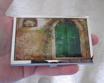 English Door Brass Business Card Case