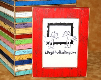 """9x12 picture frame, Colored frame, Distressed frame, colorful frame Black photo Frame, weathered frame, shabby chic frame, 67 colors 1.5"""""""