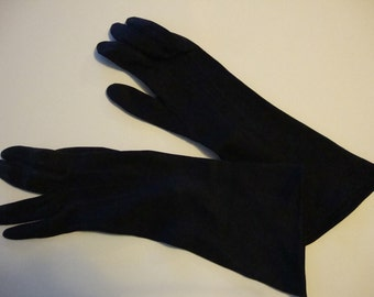 vintage long black gloves