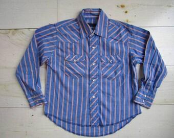 Vintage Boys' Wrangler Western Style Shirt . Size 5/6