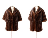 1950s dark ranch mink stole