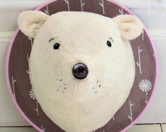 Polar Bear Trophy Head instant download pdf pattern