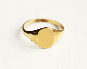 Vintage Blank Signet Ring - Size 5 or 6