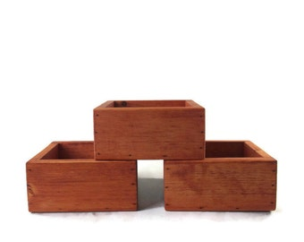 Succulent Planters Set of 3 Boxes - Garden and Home Decor - Christmas In July Sale Code ETSYCIJ17 - CIJ - Christmasinjuly