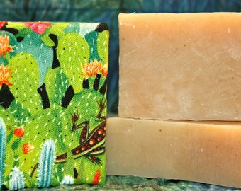 Prickly Pear Cactus & Aloe Vera Extract Vegan Soap Bar Palm Oil Free