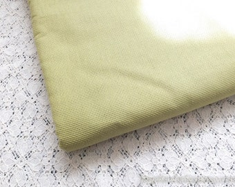 SALE Clearance 1 Yard Solid Fabric, Neat Retro Grass Green Color- Japanese Jacquard Cotton Fabric(1 Yard)