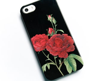 Floral Phone Case, iPhone 6 Case Red Rose iPhone 5S Case, Flowers iPhone SE, Floral Galaxy S6 Cover Roses iPhone 6 Plus Case