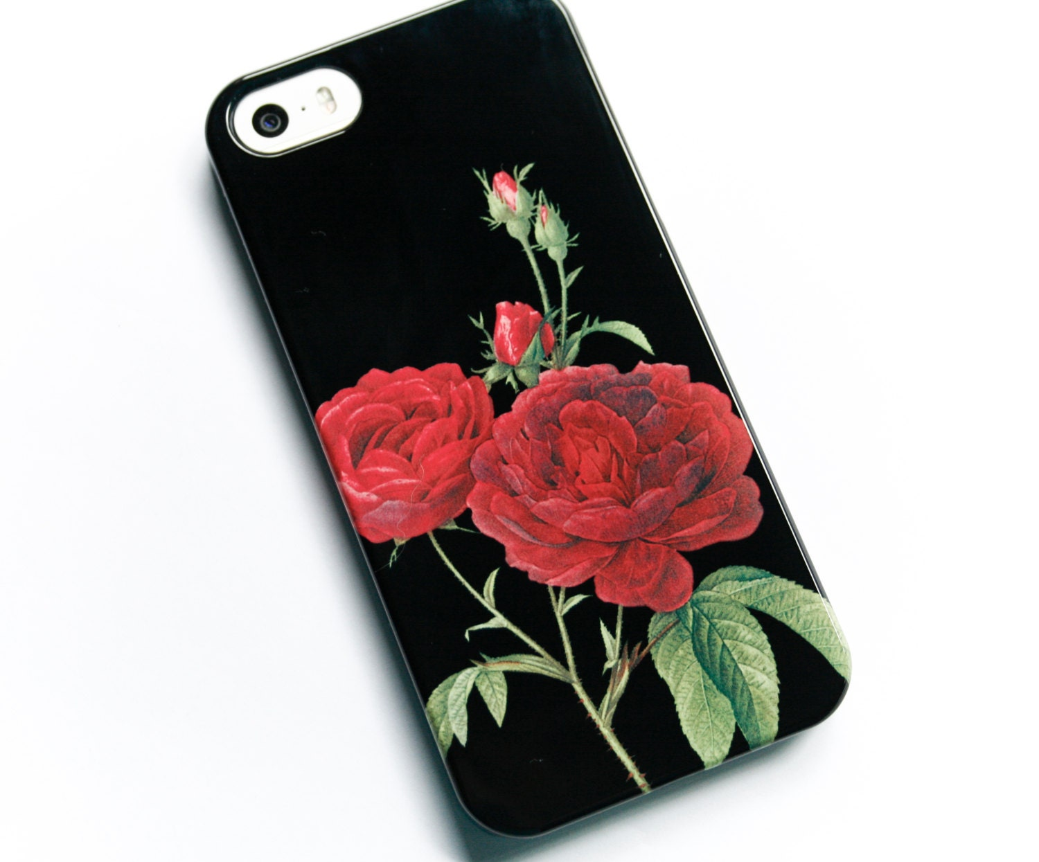 floral phone case iphone 6 case red rose iphone 5s case. Black Bedroom Furniture Sets. Home Design Ideas