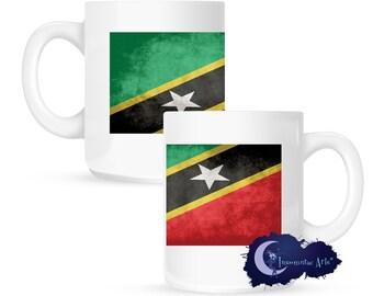 Flag of Saint Kitts and Nevis 15 oz Coffee Mug