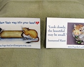 Set of 2 Magnets for Gerbil Lovers