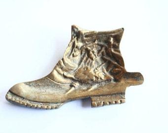 Vintage Brass Boot Ashtray