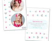Valentine's Day PSD Photo Card Template for Photographers INSTANT DOWNLOAD
