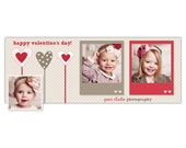Valentine's Day Facebook Cover Photo Template for Photographers INSTANT DOWNLOAD