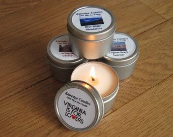 VIRGINIA  SAMPLER (four 2-oz soy candles)